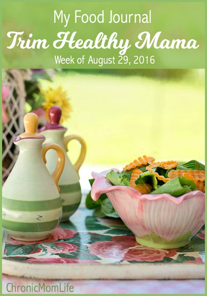 My Trim Healthy Mama Journal {Week of August 29}