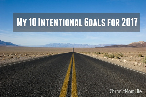 My 10 intentional goals for 2017