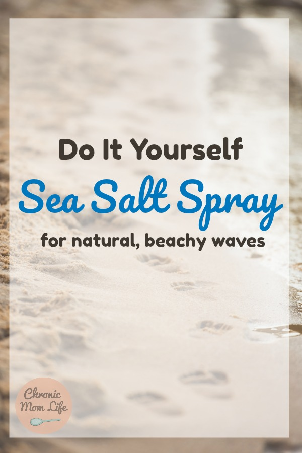 DIY Sea Salt spray for natural, beachy waves