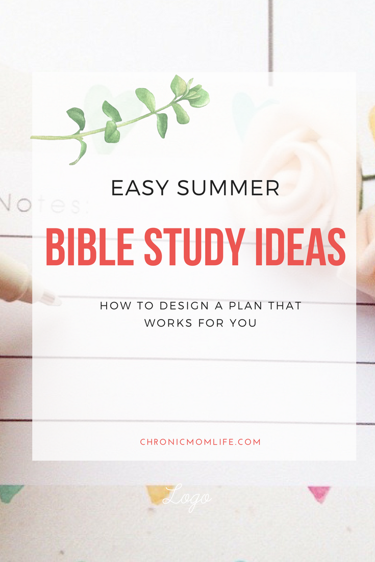 easy summer bible study ideas