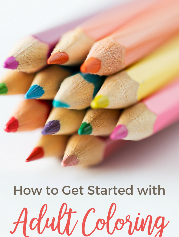 get started adult coloring