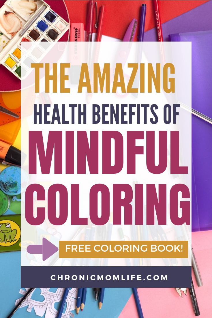 The amazing health benefits of mindful coloring include reduced stress, peace of mind and more! Grab your free coloring book. #coloring #journal #bulletjournal