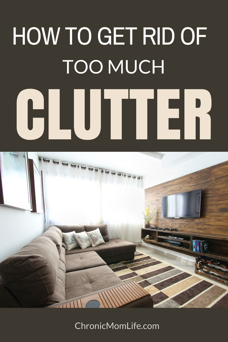 How to get rid of too much clutter. Less stuff equals more peace!