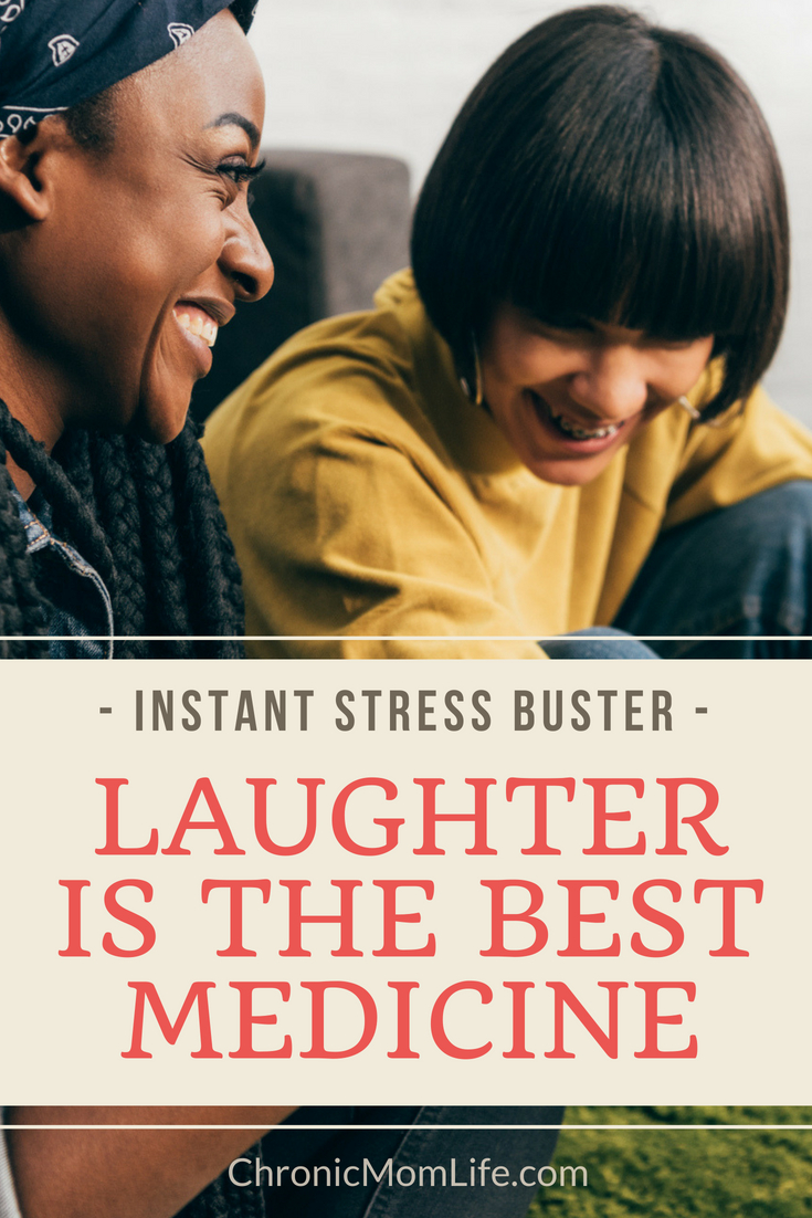 Laughter is the best medicine to reduce stress. #mentalhealth #depression #stress #recovery #chronicillness #spoonie