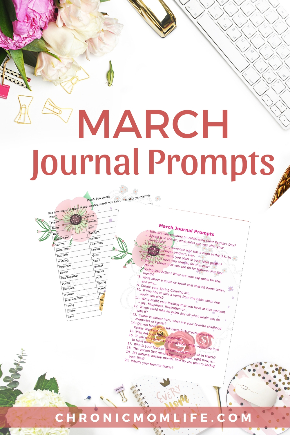 March Journal Prompts for your journaling practice #journal