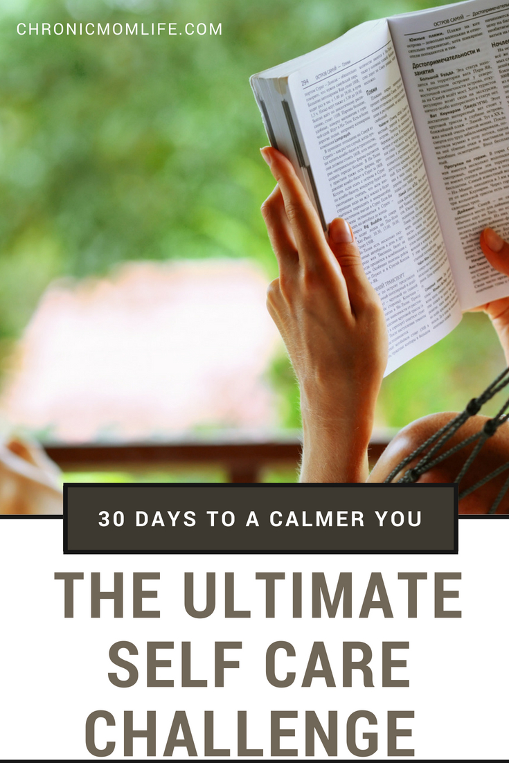The ultimate 30 day self care challenge. Reduce stress & find a calmer you.