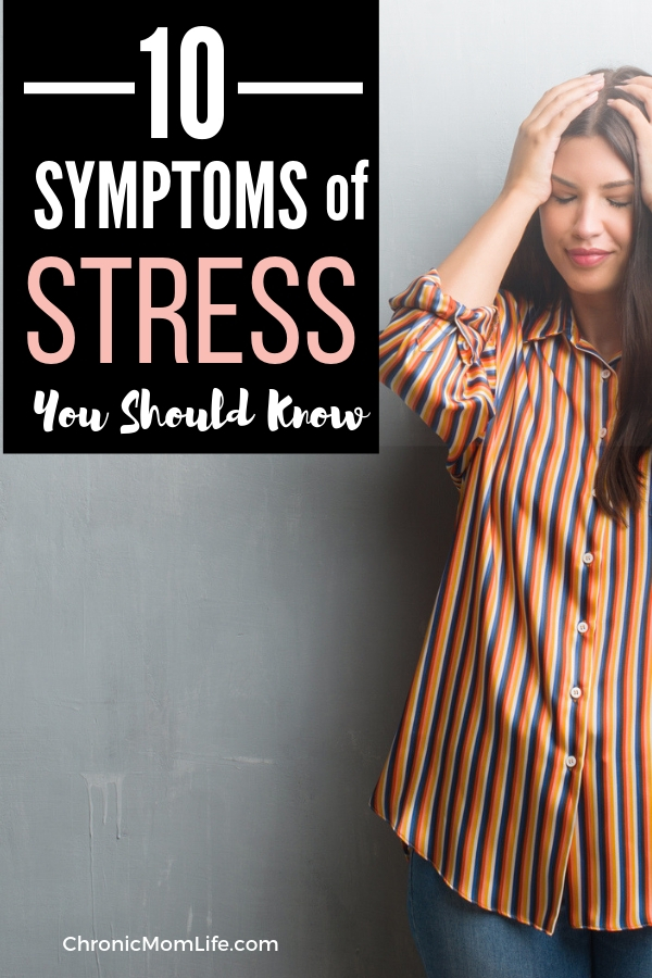 10 symptoms of stress you should know & how to reduce stress with relaxation techniques. #stress #mindful